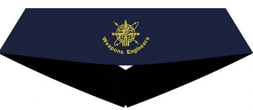 Weapons Engineer Cummerbund (Blue with Gold WE Badge) -